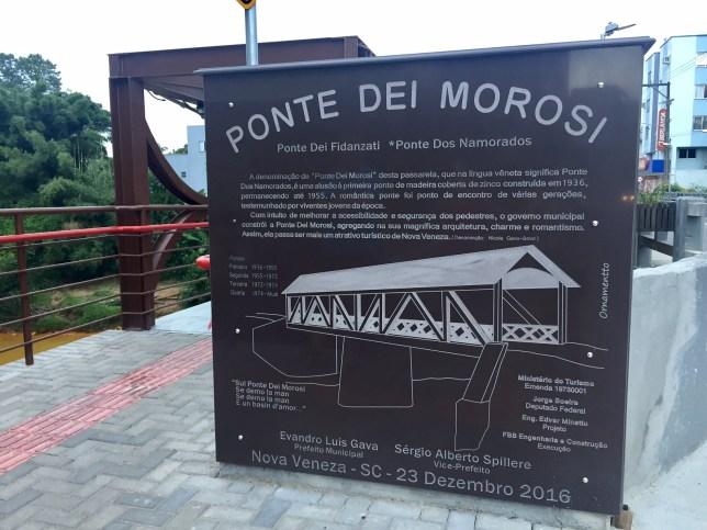 ponte dos namorados - Nova Veneza SC