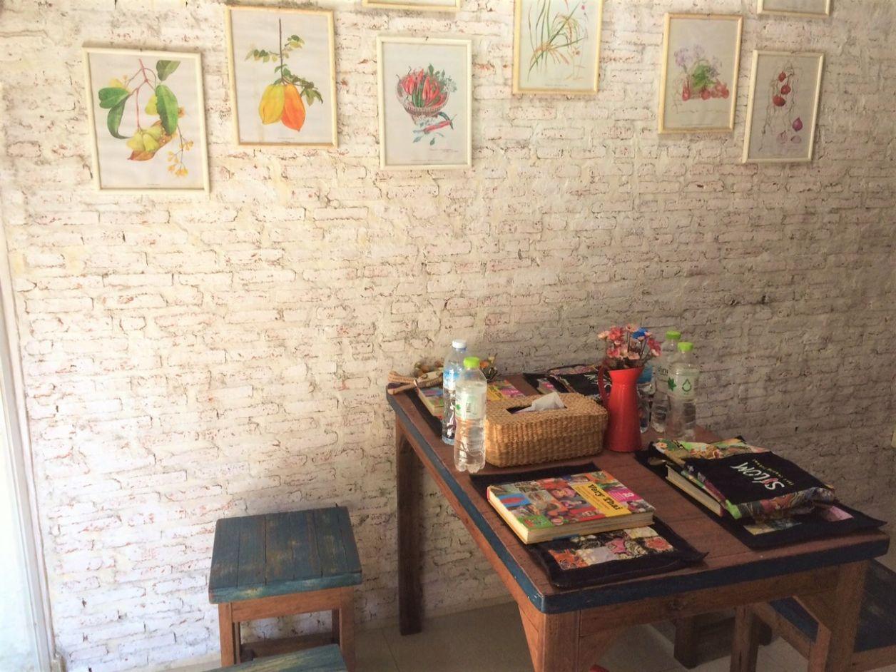 As mesas onde provávamos nossas produções