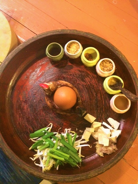 Alguns dos ingredientes do pad thai