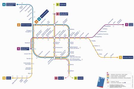 Bélgica turismo mapa transporte