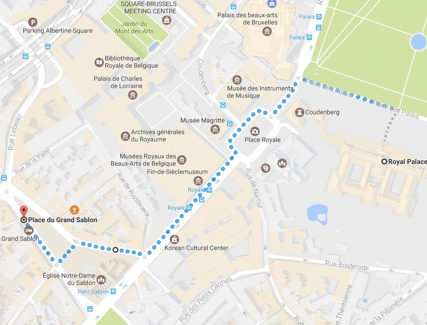 mapa de Bruxelas