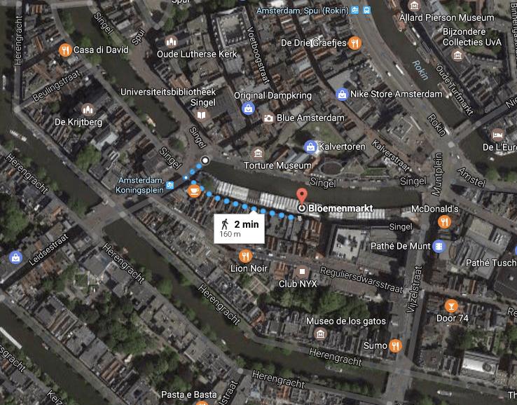 como se localizar em Amsterdam