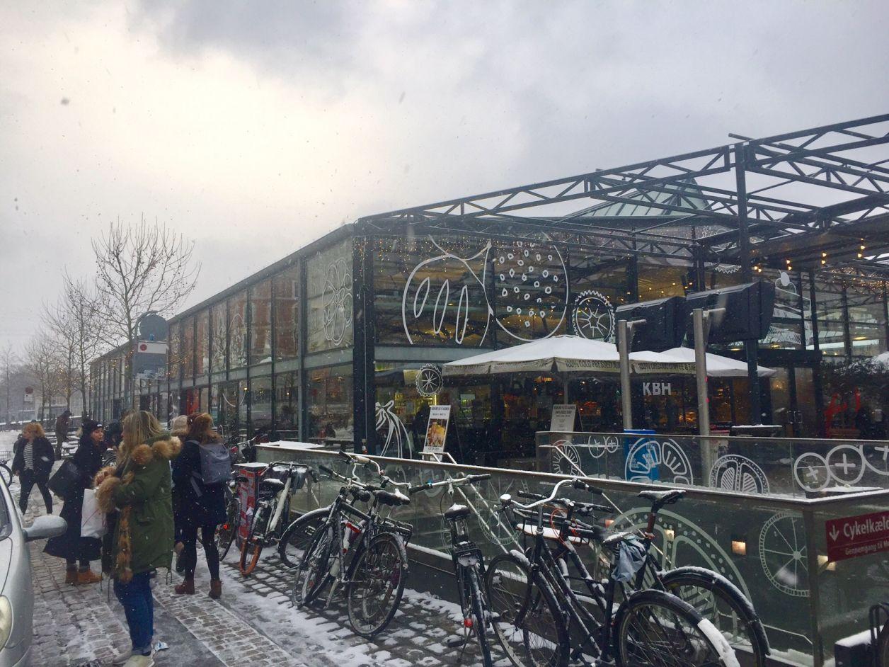 mercado na Dinamarca