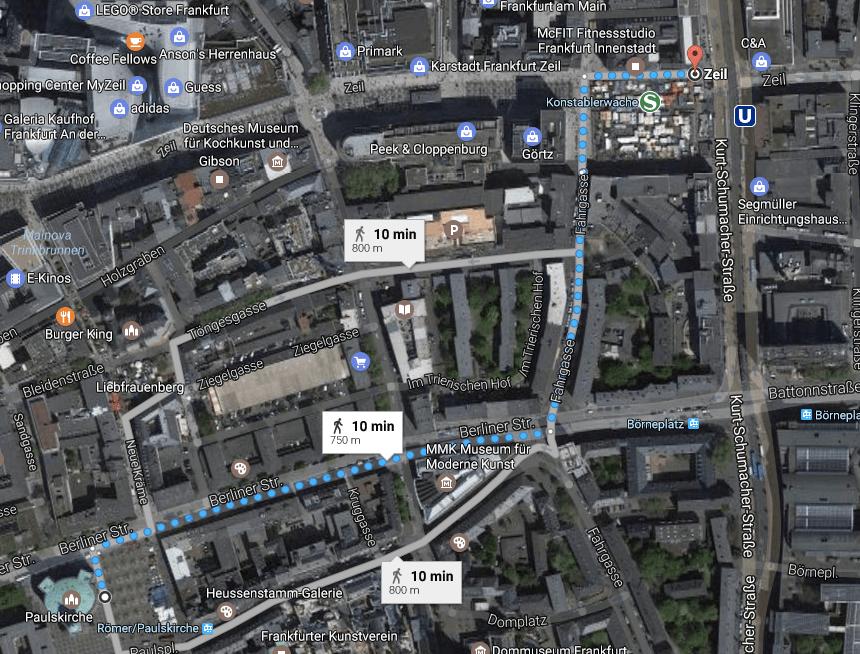mapa de frankfurt