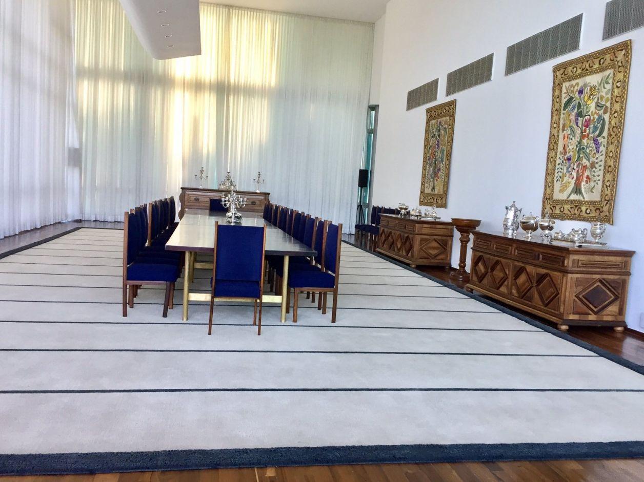 salão de banquetes do palácio da alvorada