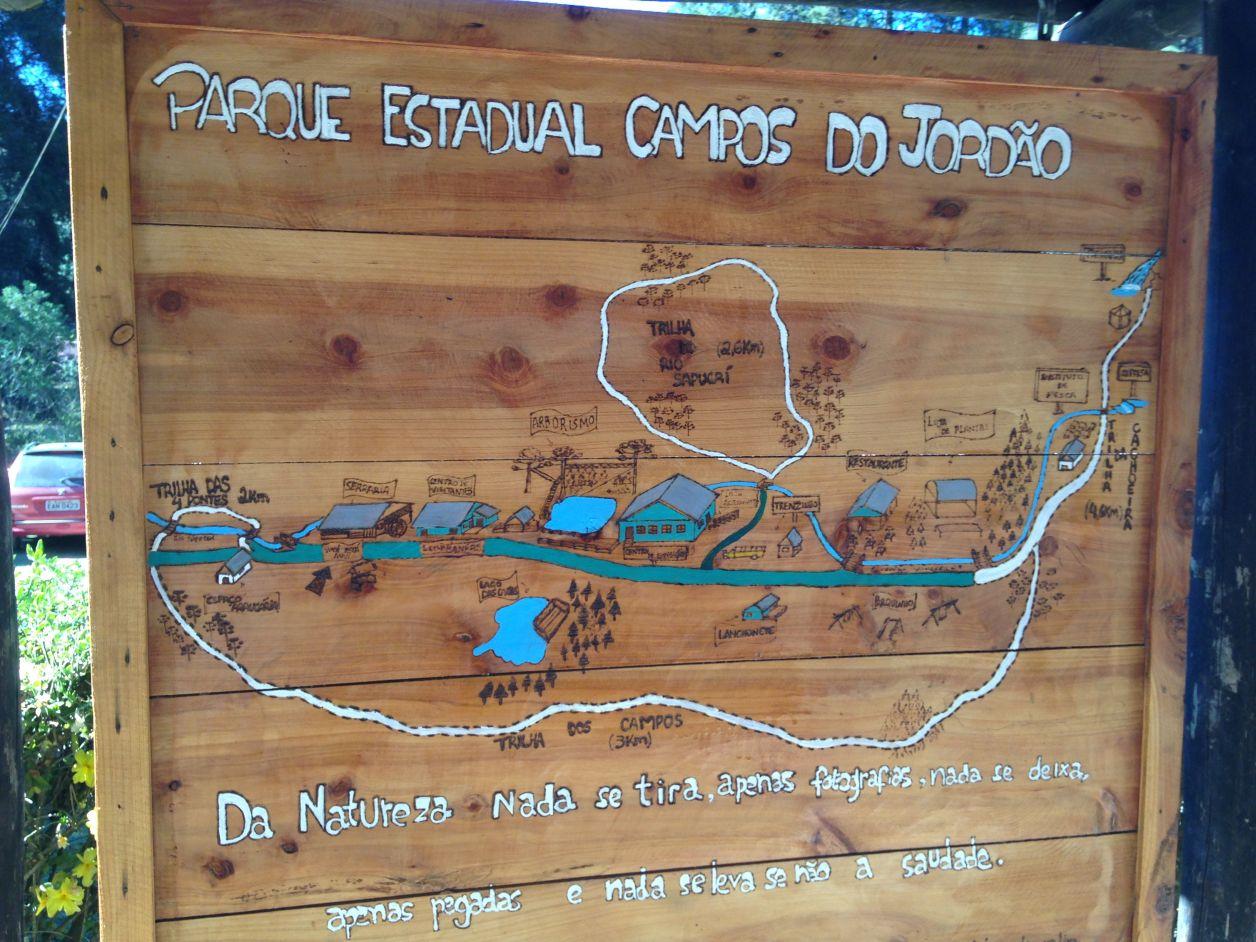 Mapa do Horto em Campos do Jordão