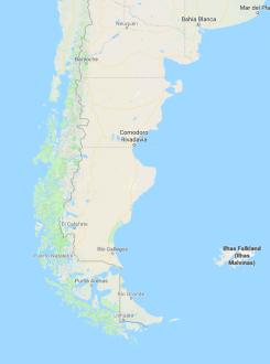 mapa patagônia