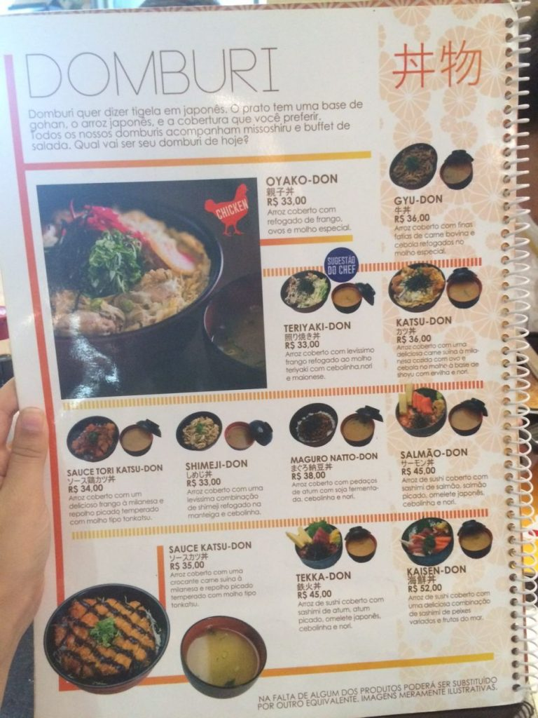 menu espaço Kazu
