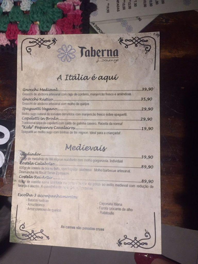 Taberna Lounge Santa Teresa Preços