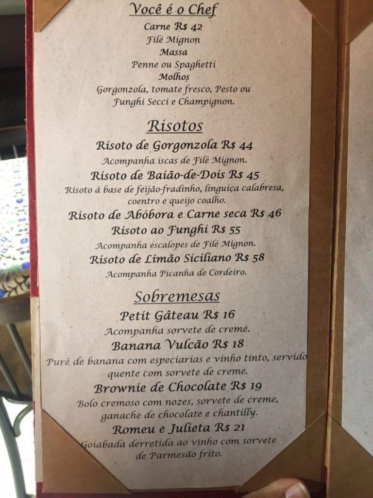 Restaurantes em Santa Teresa
