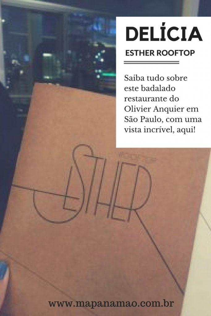 Esther rooftop olivier anquier cardapio menu