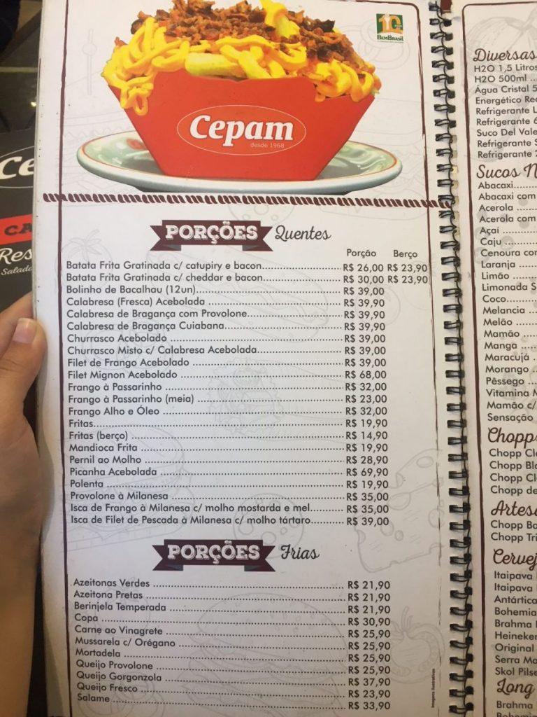 Preços padaria CEPAM