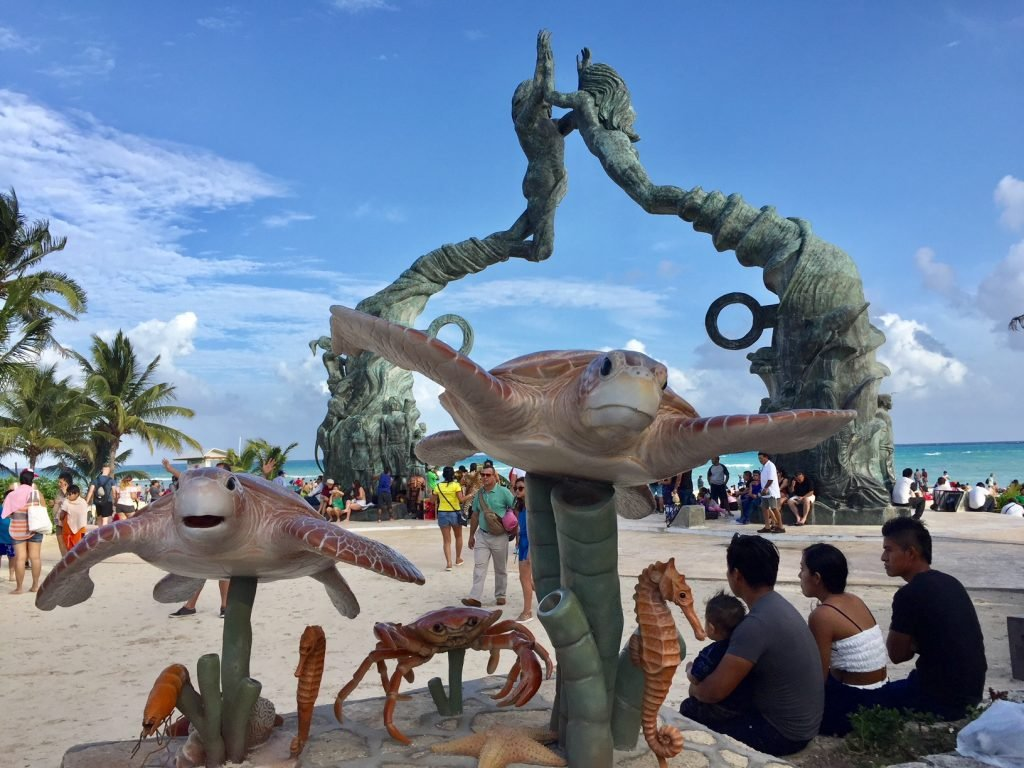 Parque Fundadores em Playa del Carmen