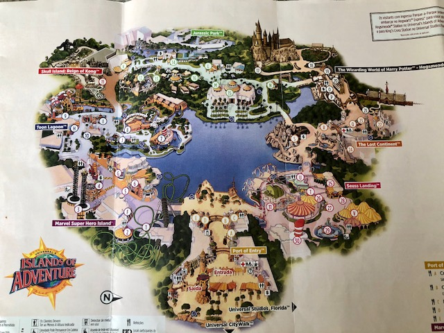 mapa do islands of adventure