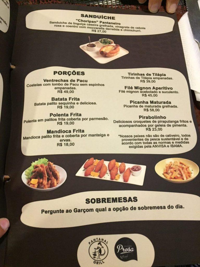 Precos Pantanal Grill