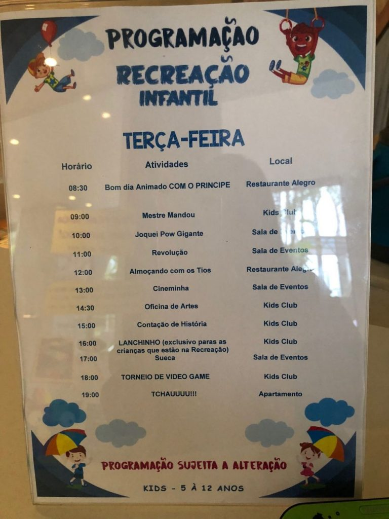 recreação hotel foz do iguaçu