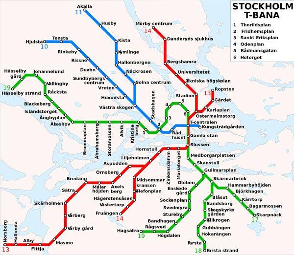 Linhas de metrô de Estocolmo