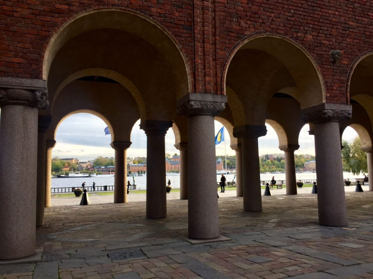 O que fazer em Estocolmo - Vista a partir do pátio interno da prefeitura