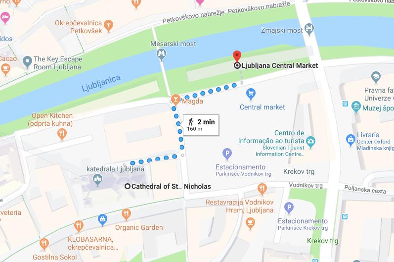 catedral de liubliana mapa