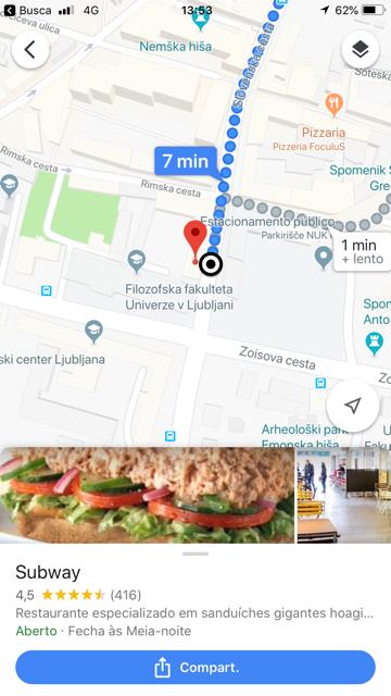 Subway em liubliana