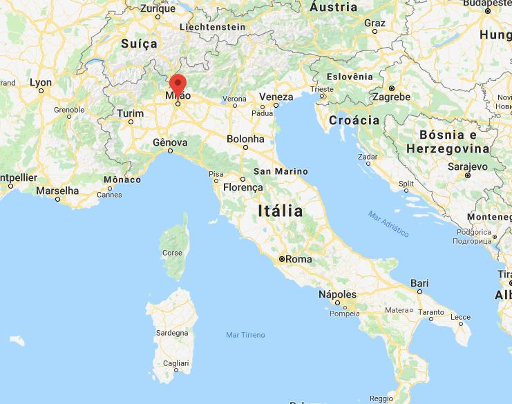 onde fica Milão