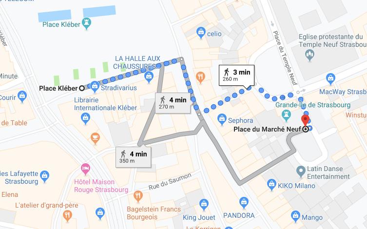 mapa estrasburgo frança