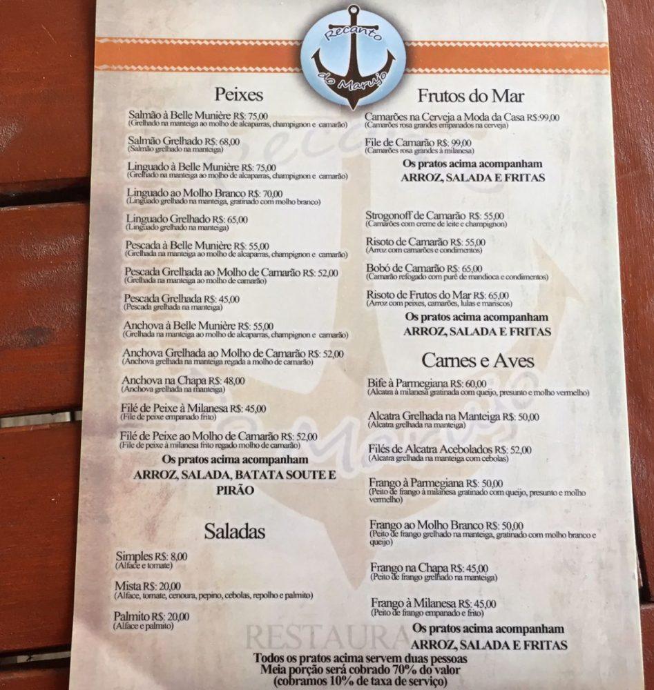 restaurante praia da lagoinha