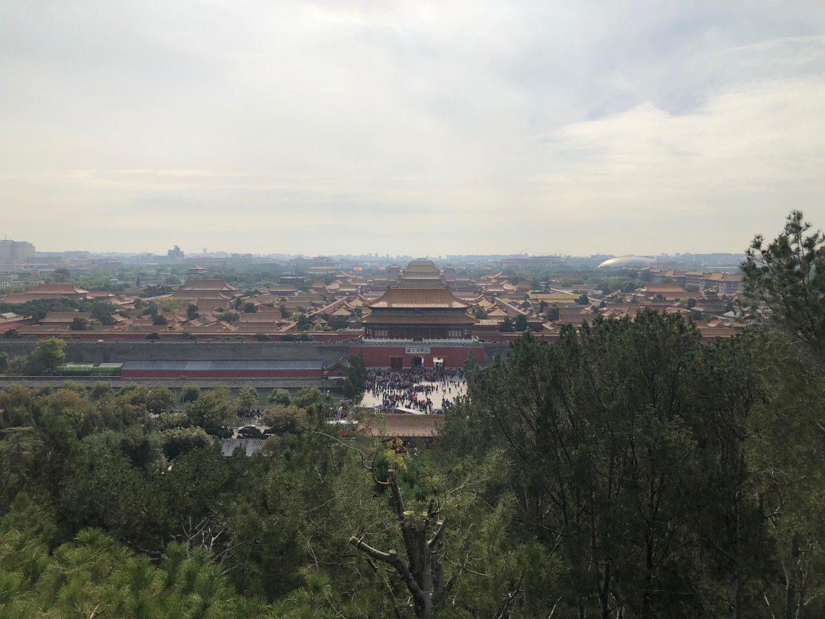vista da cidade proibida Pequim